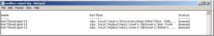 Exporting Mailboxes to PST (ExMerge) on SBS 2011 – Scheduled Task