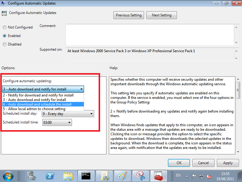 WMI Filters, Windows 7 Professional Pack & SBS 2011