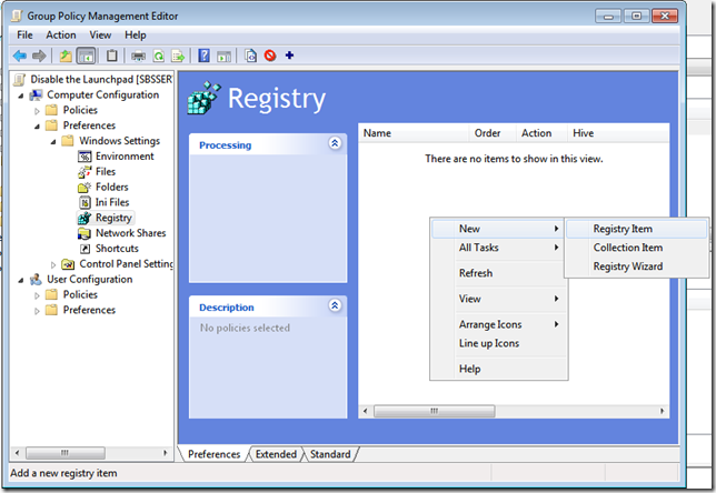 7.Registry Item