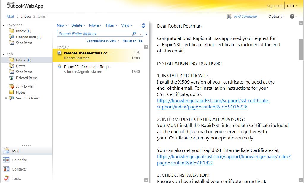 Renew your SSL Certificate : SBS 2011 Essentials | Title