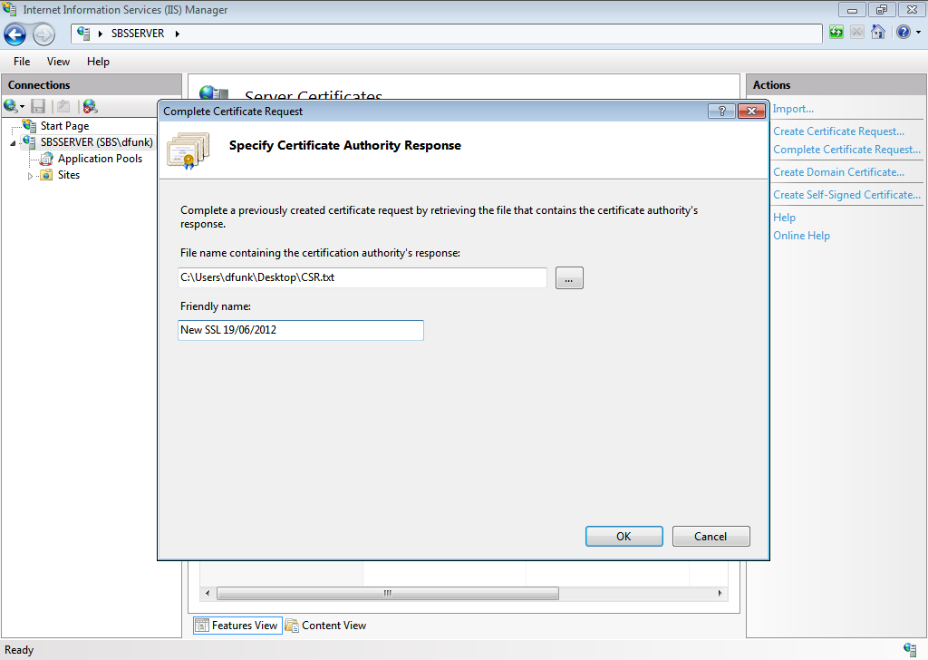 Renew Your Ssl Certificate Sbs 2011 Essentials Title Required