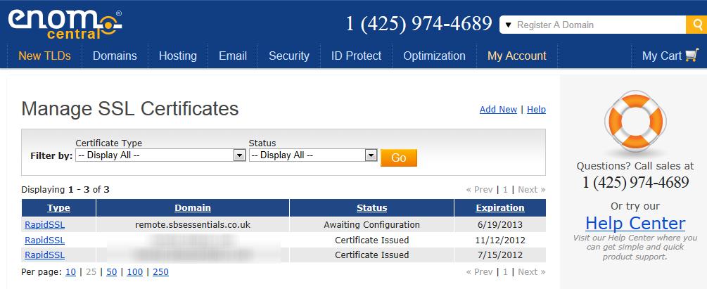 Renew your SSL Certificate : SBS 2011 Essentials | Title (Required)