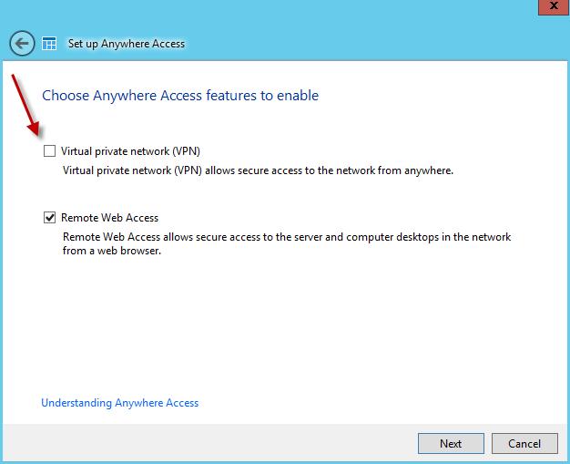 Windows Server 2012 Essentials VPN without port 1723