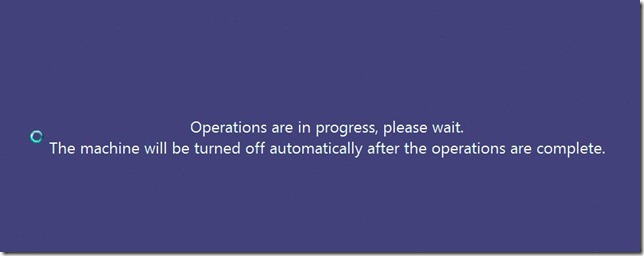 Operations In progress