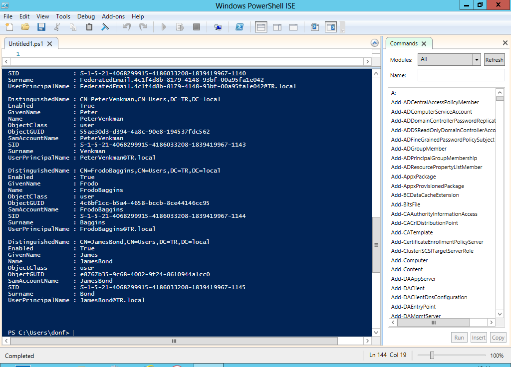 powershell make it do something useful title required