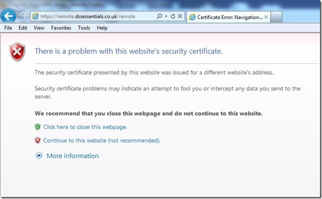 SSL Error 2