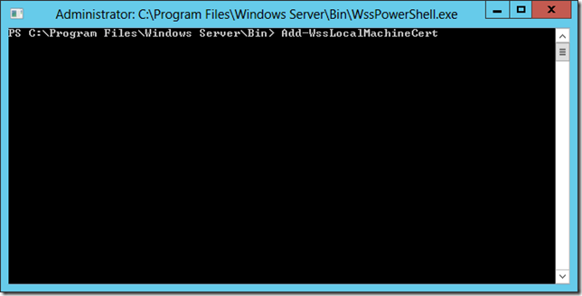 WSS PowerShell Window