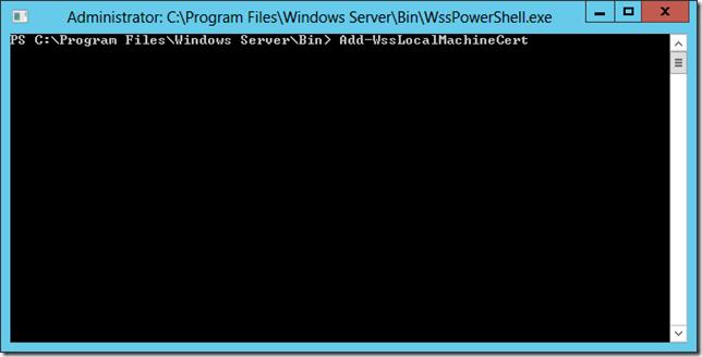 WSS PowerShell Window