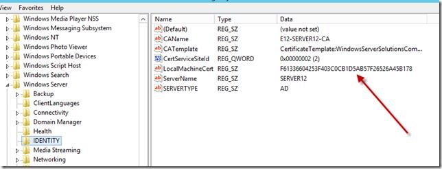 Essentials 2012 Registry IDENTITY