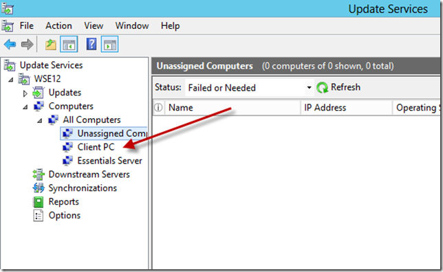 Configure WSUS Add Computer Group 2