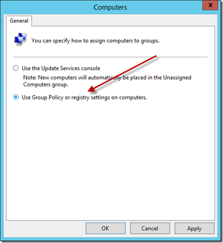 Configure WSUS Add Computer Group 3