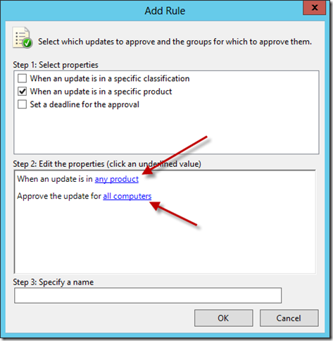 Configure WSUS Auto Approval Rule 1