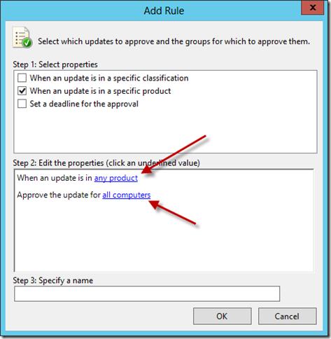 Configure WSUS Auto Approval Rule 1
