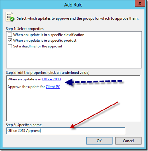Configure WSUS Auto Approval Rule 3