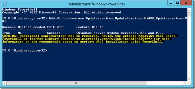 Enable WSUS on Server 2012 Essentials 2