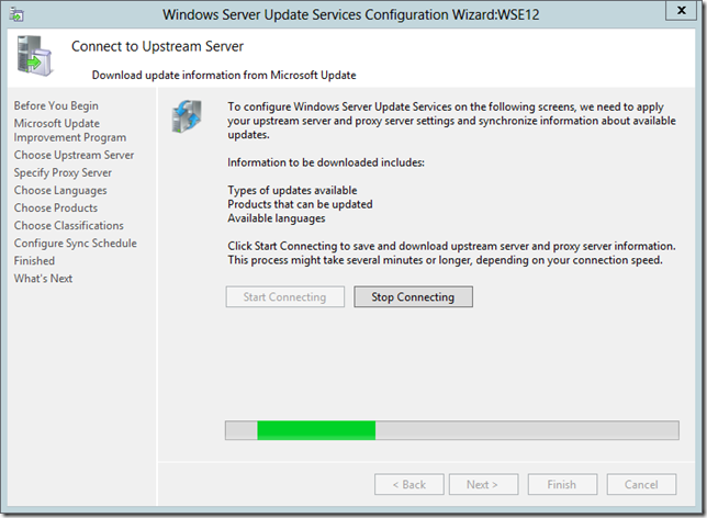 Enable WSUS on Server 2012 Essentials Config Wizard 10