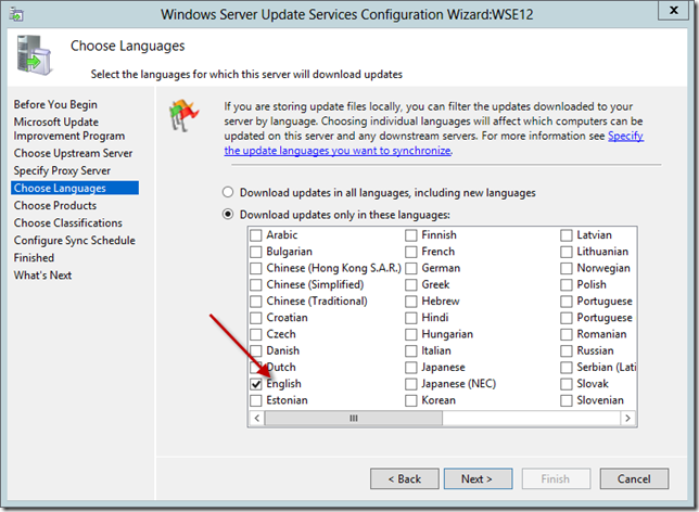 Enable WSUS on Server 2012 Essentials Config Wizard 12