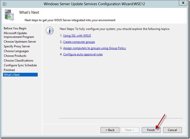 Enable WSUS on Server 2012 Essentials Config Wizard 15