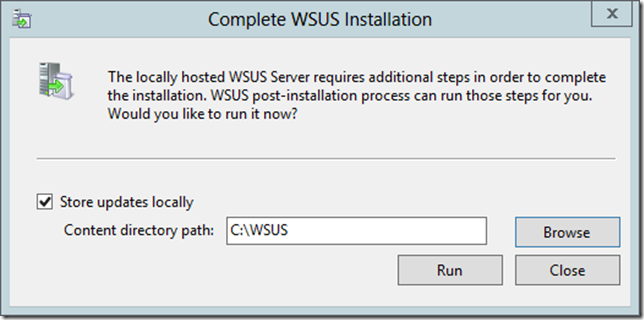 Enable WSUS on Server 2012 Essentials Config Wizard 2