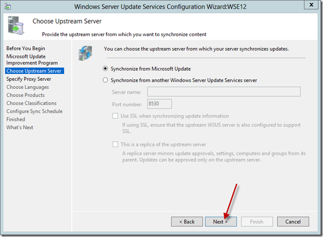 Enable WSUS on Server 2012 Essentials Config Wizard 7