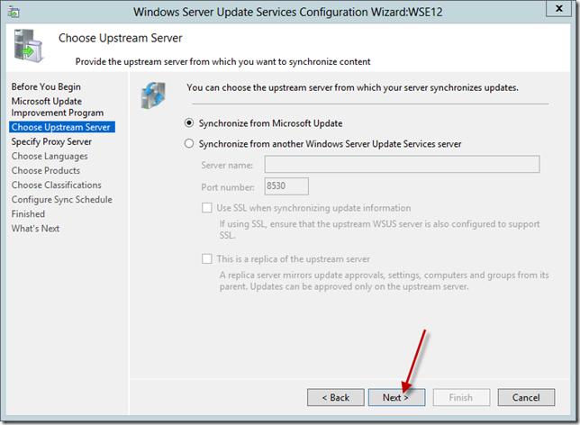 Enabling WSUS on Windows Server 2012 Essentials | Title