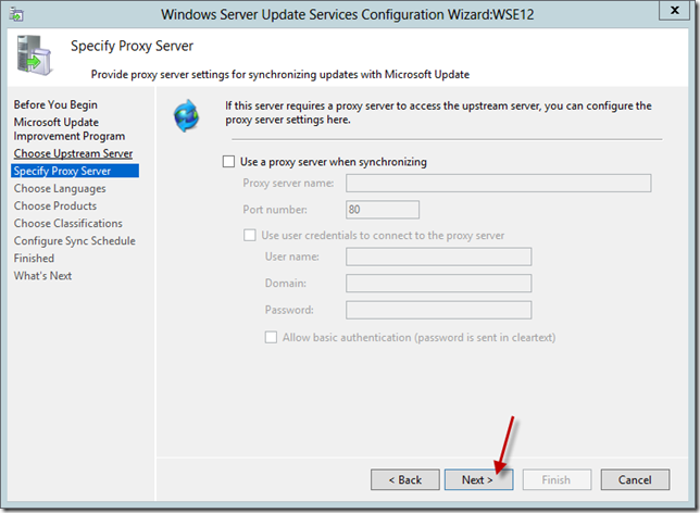 Enable WSUS on Server 2012 Essentials Config Wizard 8