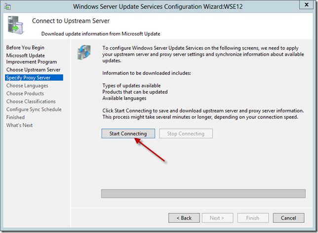 Enable WSUS on Server 2012 Essentials Config Wizard 9