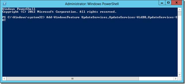 Enable WSUS on Server 2012 Essentials