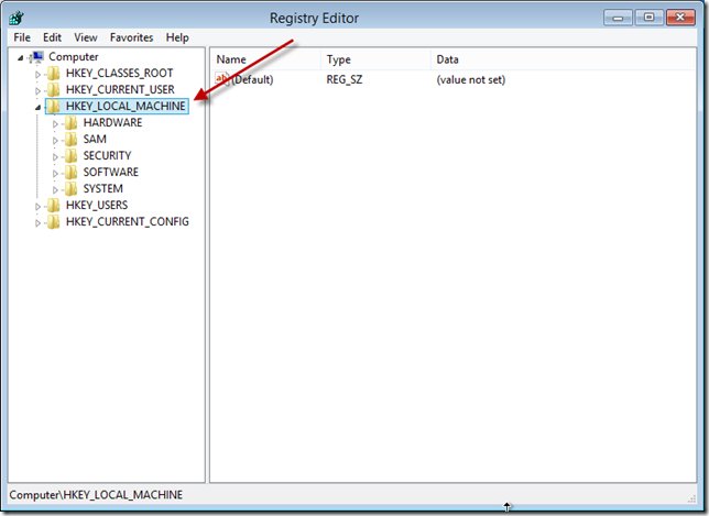 Installation Repair Registry Editor