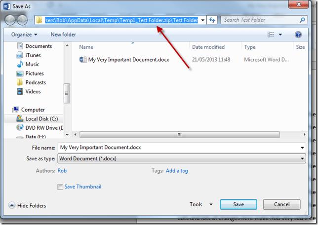 temp zip folder file path 2