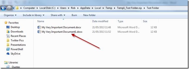 temp zip folder file path files