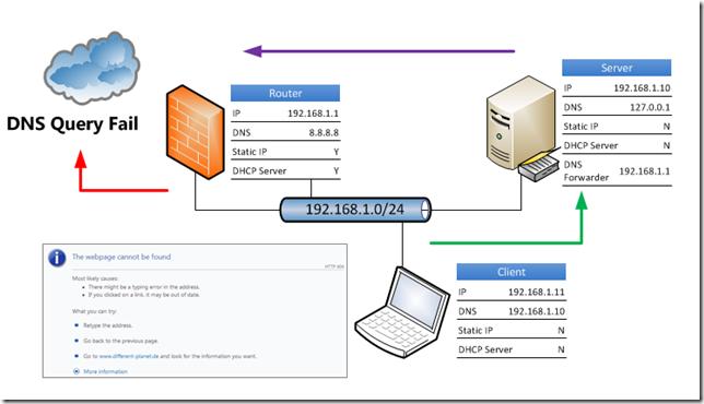 Essentials DNS Query Fail