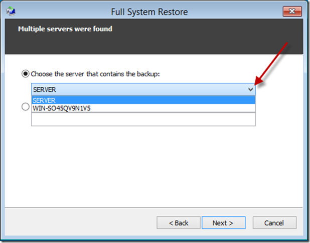 Essentials 2012 R2 – Client Restore | Title (Required)