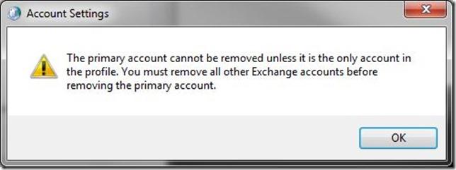 Primary Account Error