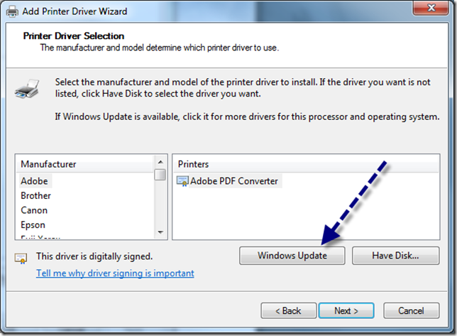 Installed: Printer Driver Was Not Installed