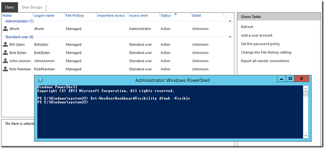 Quick Fix: Hide users from Essentials 2012 R2 Dashboard | Title (Required)