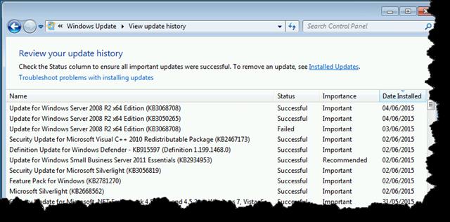 Server Updates