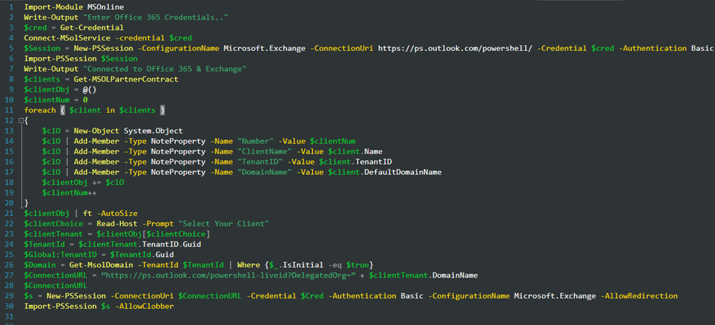 Manage Multiple Office 365 Tenants from PowerShell | Title