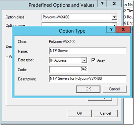 Configure Option 042