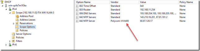 DHCP Scope Option
