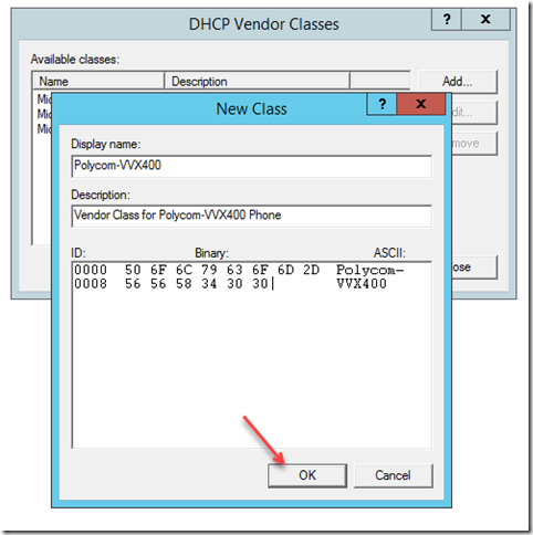 DHCP Vendor Class Polycom Phones | Title (Required)