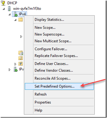 Set Predefined Options 1