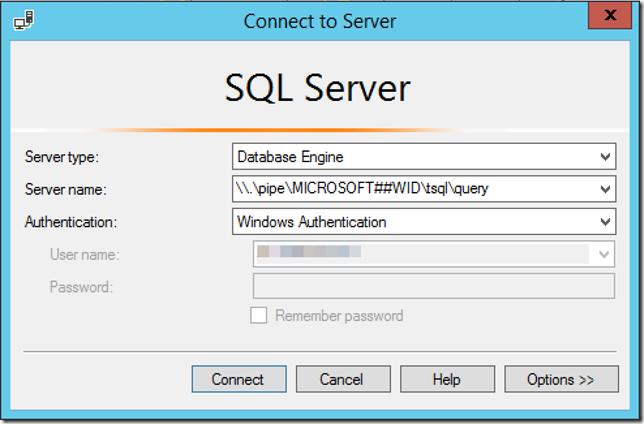 SQL WID