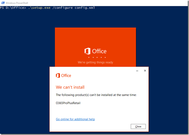 Office 365 Product Install